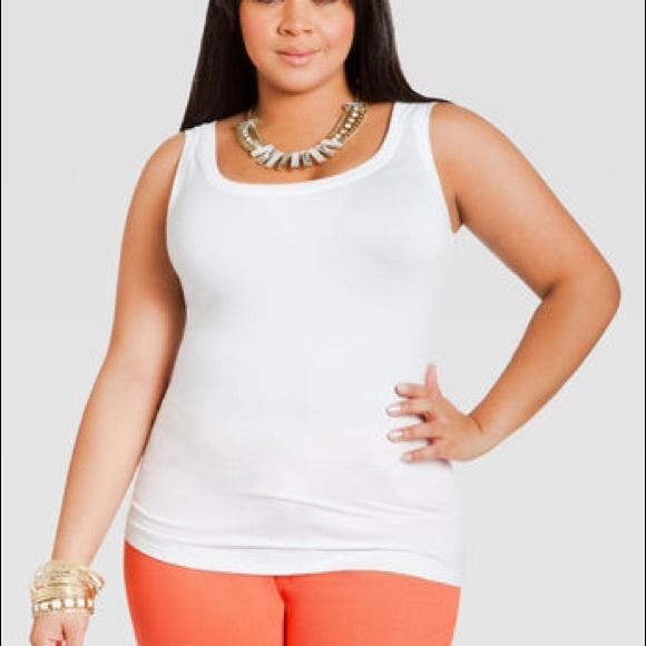 bf329bb1d0 Ashley Stewart Women s Plus Size Tank Top White